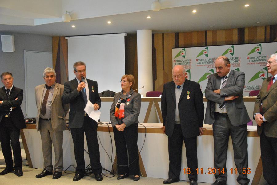 Remise de la medaille du mérite agricole, Jacques Olivier